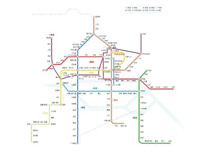 广州上下九 手绘地图