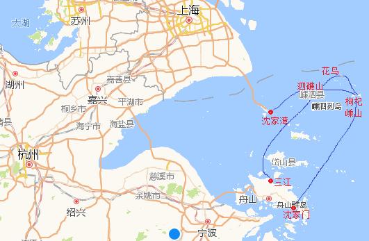 另外比较热门的是 枸杞岛 和 嵊山 岛(此两岛之间有大桥连接,海水是蓝