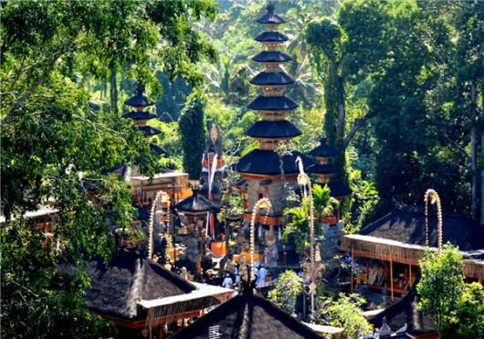 巴厘岛木雕村 乌布皇宫 圣猴森林公园 塔曼阿韵寺一日游 乌布文化之旅
