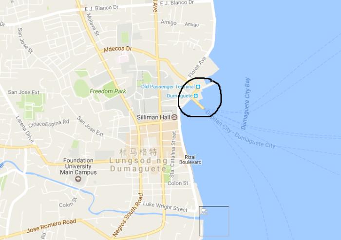请问杜马格特~锡基霍尔岛码头,卖票点在码头什么位置?