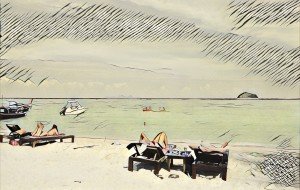 【丽贝岛图片】丽贝岛——阳光 碧海 蓝天 还有长尾船和白沙滩~