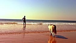 青岛景点-银沙滩景区海水浴场