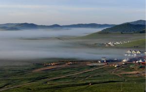【木兰围场图片】晨雾中的木兰围场