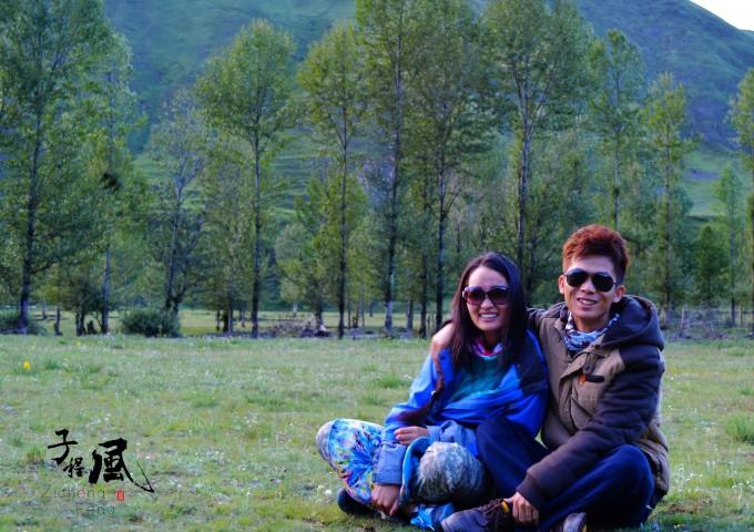 游玩的时候偶遇两名藏族小孩儿 (三)318的美很任性