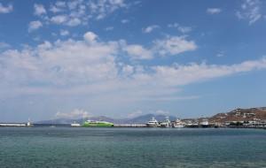 【爱琴海图片】希腊之旅...乘游轮去圣托里尼岛沿途风景