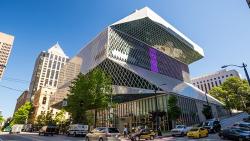 西雅图景点-西雅图中央图书馆(Seattle Central Library)