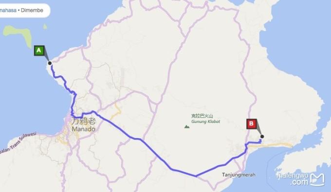 整个岛分为两个城市,美娜多和比通,布纳肯位于美娜多,蓝碧位于比通.