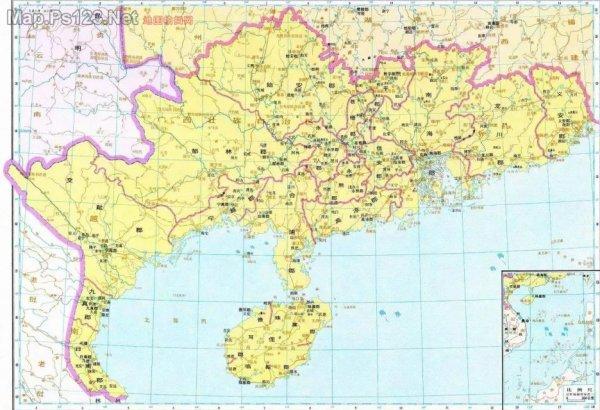 隋朝岭南道地图