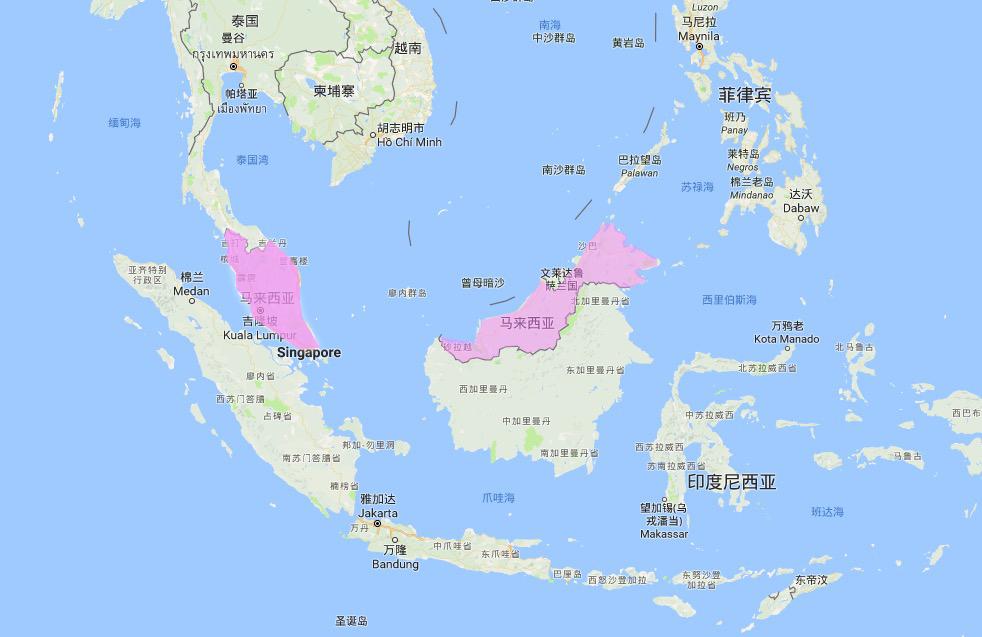 马来西亚的地理位置