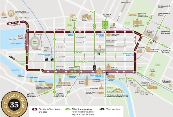 墨尔本 游记  墨尔本,这里有全世界最大的有轨电车系统,其线路几乎