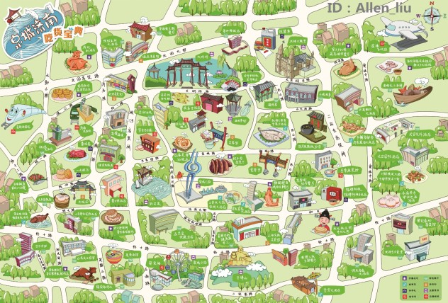 苏州手绘地图马蜂窝