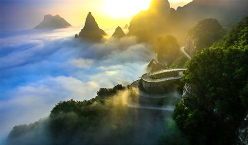 张家界森林公园   玻璃桥云天渡   天门山国家森林公园 凤凰古城4日游