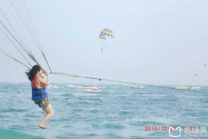 珊瑚岛滑翔伞