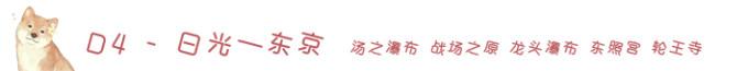 D4-日光-东京 汤之瀑布战场之原东照宫
